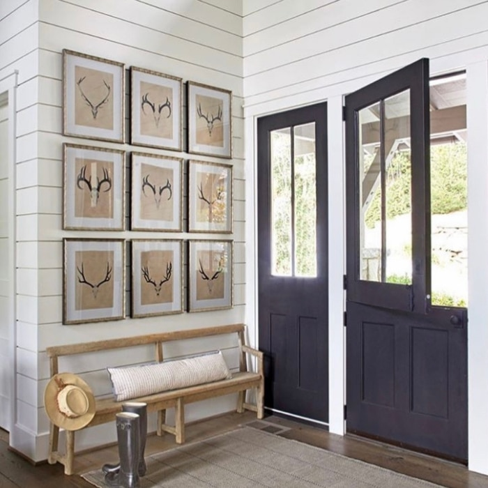Modern Dutch Door Ideas by Courtney Giles Interiors with a black door and black hardware