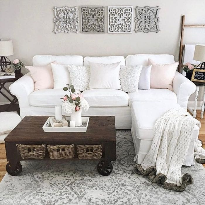 Slipcovered Sofa Ideas by Home with Kelly with a sofa cover from Ikea