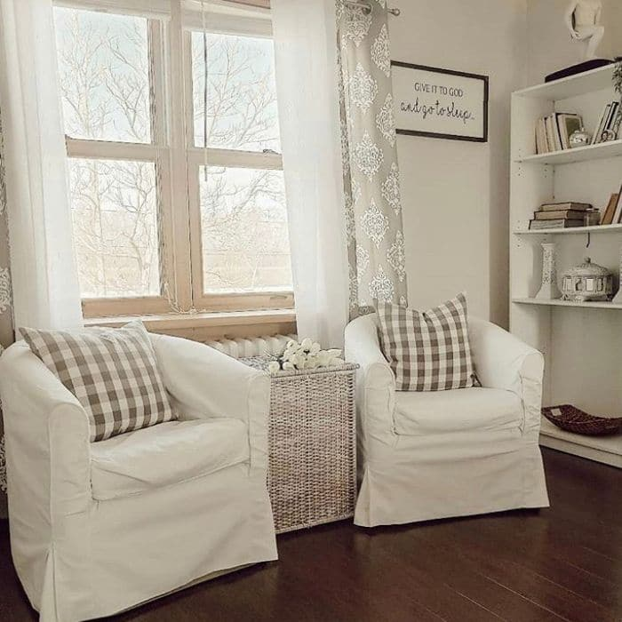 Slipcovered Sofa Ideas from Decor & Faith with Ikea slipcovered chairs
