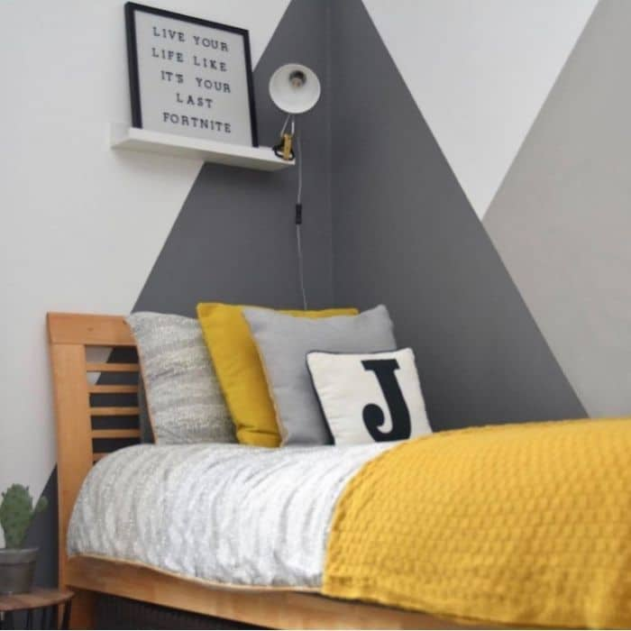Creative Wall Painting Ideas by Place Shapers Interiors with a gray and yellow themed room