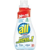 (2 pack) all Small & Mighty Super Concentrated Liquid Laundry Detergent, Free Clear for Sensitive...