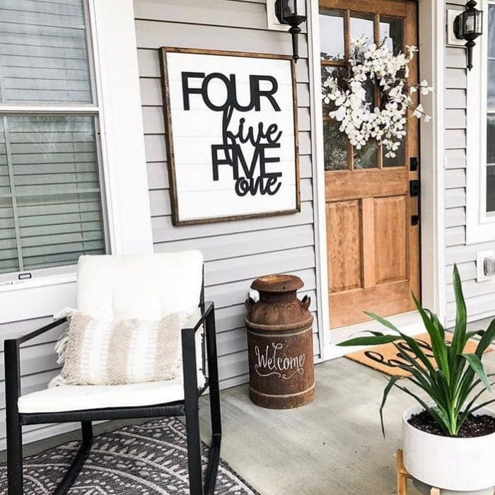Decorative House Numbers by Feather And Birch with spelled out house numbers