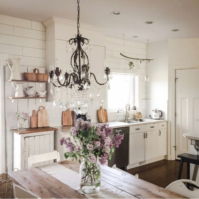 Farmhouse Backsplash by Prairie Wood Design with a shiplap backsplash