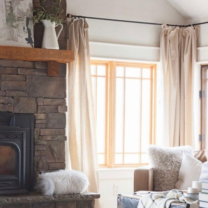 Curtains for Corner Windows by Twelve on Main with How to Hang Curtains For Less with These Easy Tips!