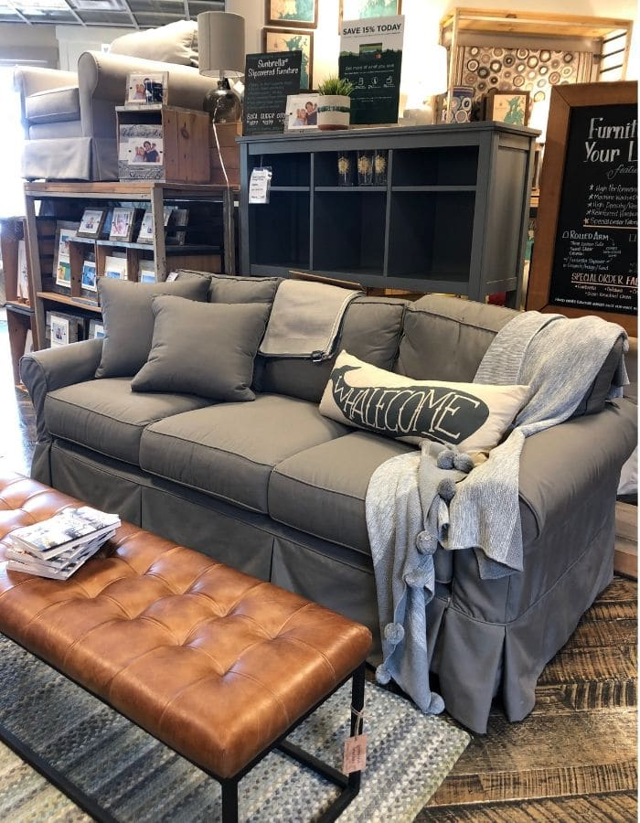 Affordable slipcover sofas featuring a sofa from LL Bean that is a higher price point.  Looks like the Ikea Ektorp but more comfortable.