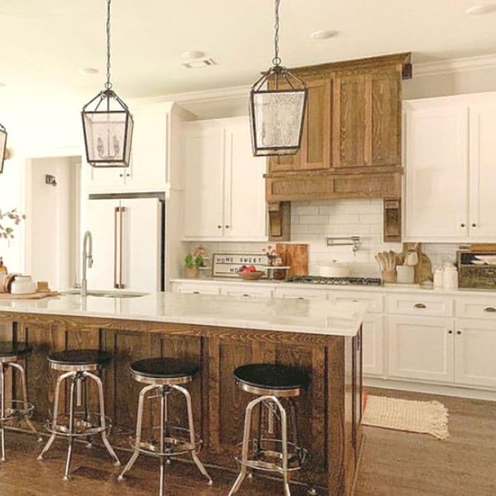 A Farmhouse Kitchen with some wooden touches by Signs of Hope