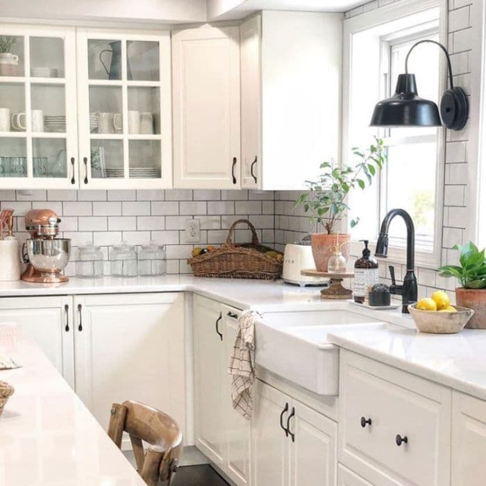 A farmhouse kitchen sink by Decorating With Leila
