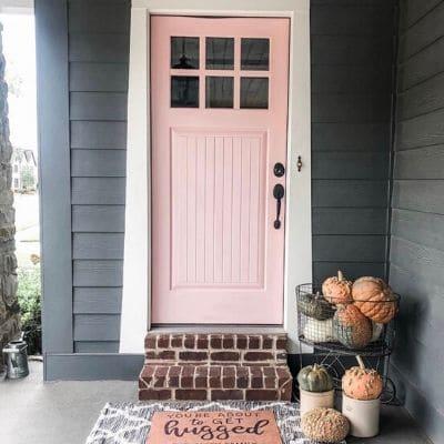 Modern front door paint colors pink