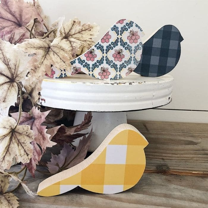 Fall Decor Ideas from jane.com with farmhouse wood birds that are available in 5 different color schemes
