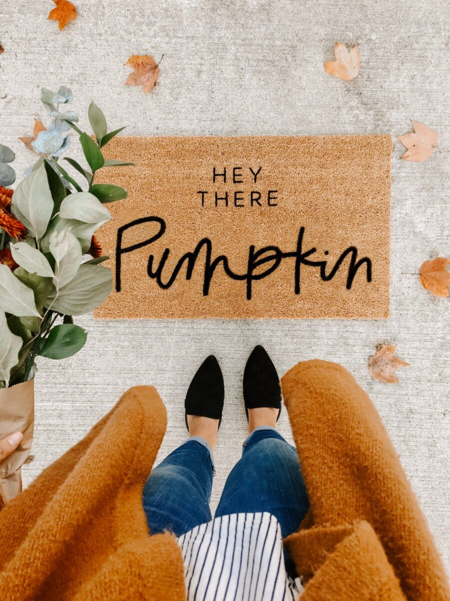 Hey there pumpkin doormat by Olive Creative Company