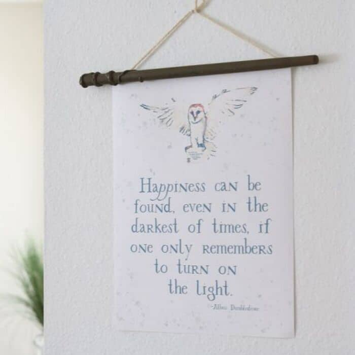 Printable Halloween Decorations from our ADD SOME MAGIC TO YOUR HOME WITH HARRY POTTER FREE PRINTABLES post