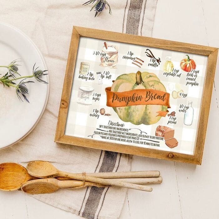 Printable Halloween Decorations by I Should Be Mopping The Floor with a pumpkin bread recipe free printable