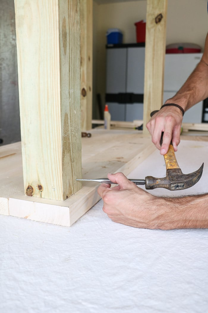 How to build a farmhouse table. Hammer in any nails.