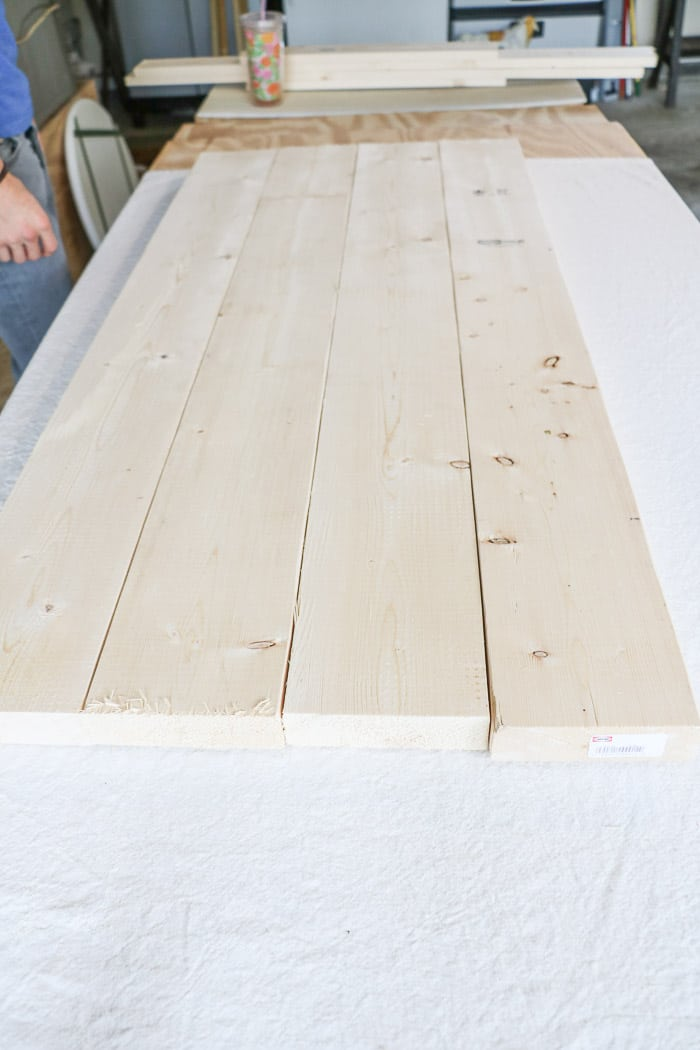 how to build a farmhouse table Start with the top