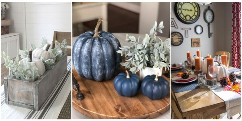 Dollar Store Fall Tablescapes