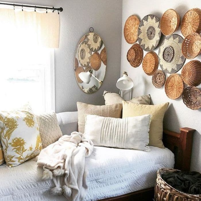 How To Decorate With Baskets using baskets as wall art by Kari Teel