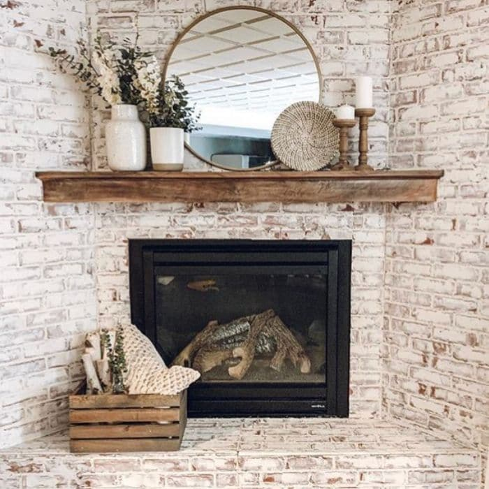 Fireplace Makeovers by Grace Oaks Designs with a faux German schmear makeover