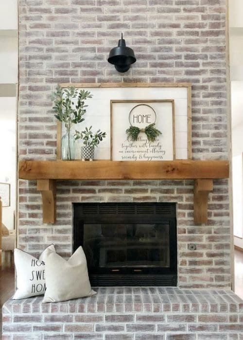 Fireplace Makeovers by Mrs DIY with a diy German schmear
