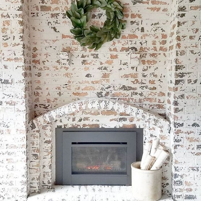Fireplace Makeovers by Our Cozy Little Mn. Home with a simple German schmear makeover