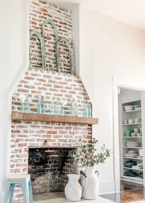 Fireplace Makeovers by Design Central Project with a joint compound German Smear