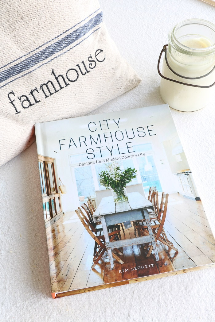 City Farmhouse Style by Kim Leggett.  This wonderful book filled with antique decorating advice.  Truly one of the best interior design book for beginners.