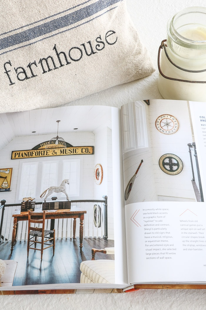 City Farmhouse Style by Kim Leggett.  This wonderful book filled with antique decorating advice.  Truly one of the best interior design book for beginners