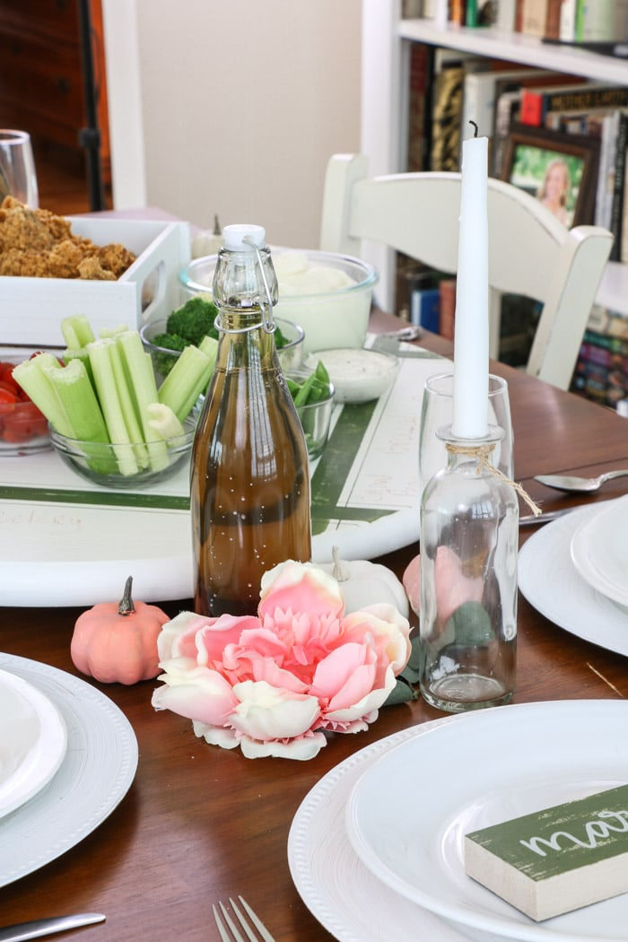 DOLLAR TREE FALL DECORATING IDEAS FOR A COZY THANKSGIVING TABLE