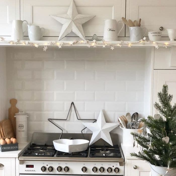 Christmas Kitchen Decor by Hearts of Claremont with star decor