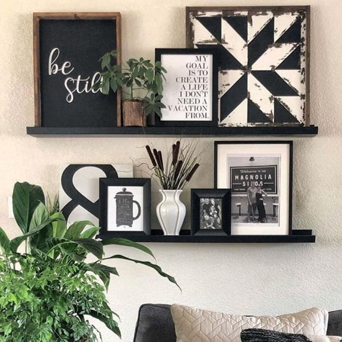 Decorating With Barn Quilts by Julia Terpstra with a barn quilt displayed on a shelf