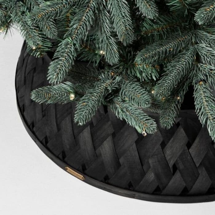 Christmas Tree Base Ideas with a Chic Black Tree Base from Target