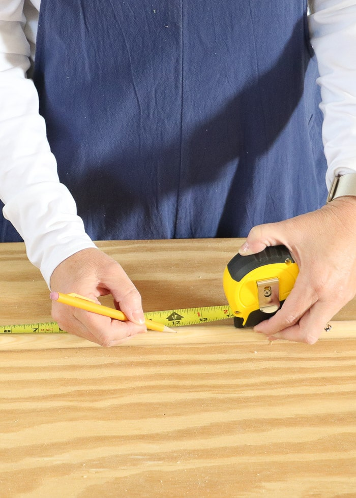 Measure and cut dowels to different sizes