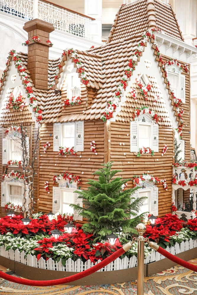 Victorian Christmas inspiration at Disney Grand Floridian with a gingerbread house.