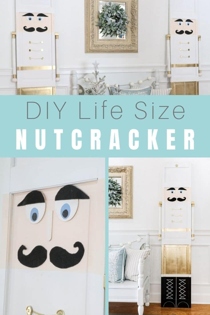 These easy DIY life size nutcrackers are fun toy soldiers that will add joy to your Christmas decor.