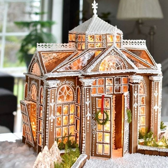 Decorating With Gingerbread Houses by Silverodlan with an exquisite gingerbread house