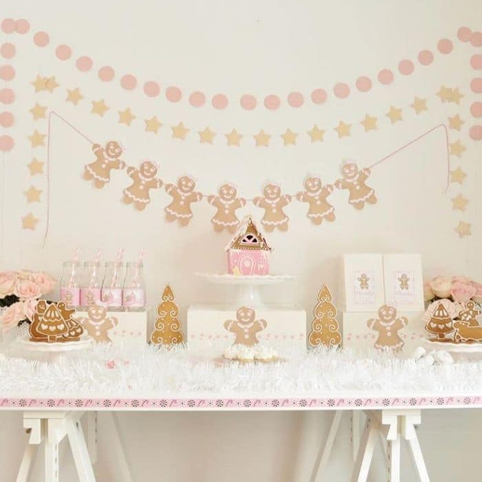 Decorating With Gingerbread Houses by Enchanted Parties Montreal with gingerbread house decorating party decor