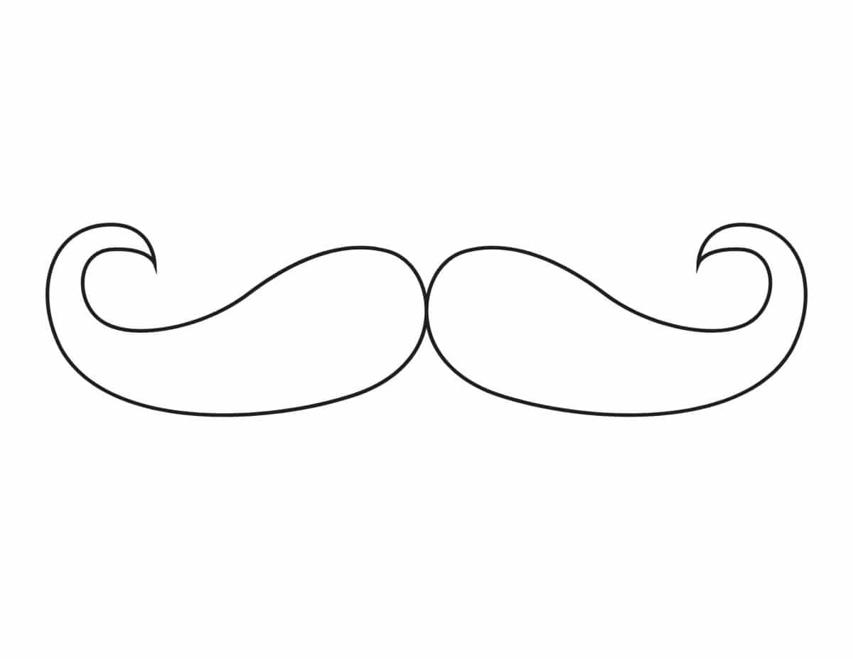 DIY life size nutcracker by using this mustache and cutting it out as a pattern for felt.