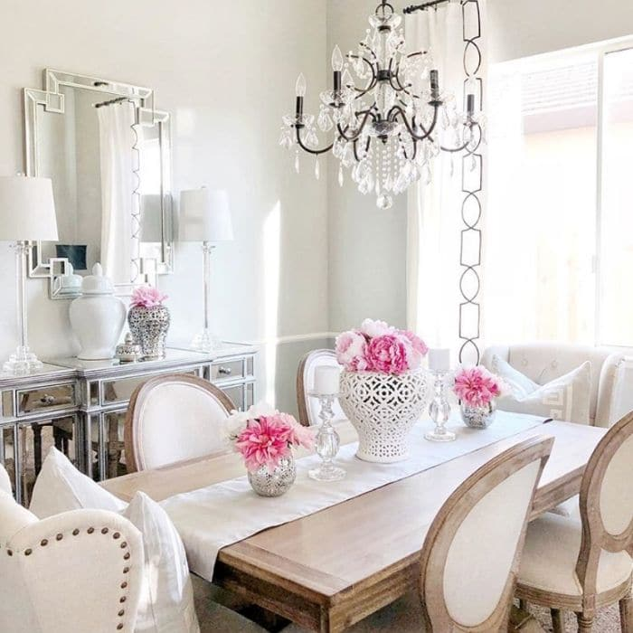 Sherwin Williams Repose Gray in a dining room by Dana Interior Decor
