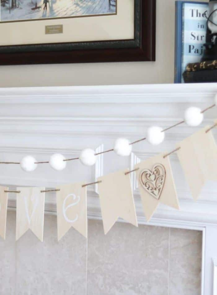 Valentine wood garland project