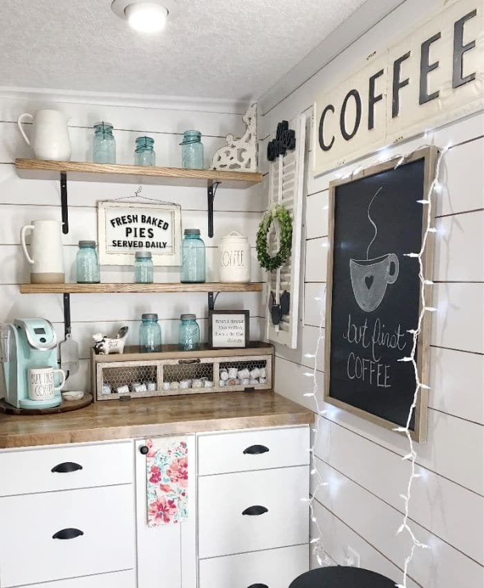 Farmhouse Coffee Bar Ideas Life On Summerhill