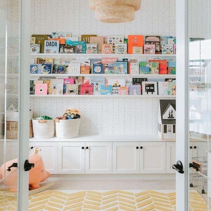 A reading area in a playroom by Sydney Gerten