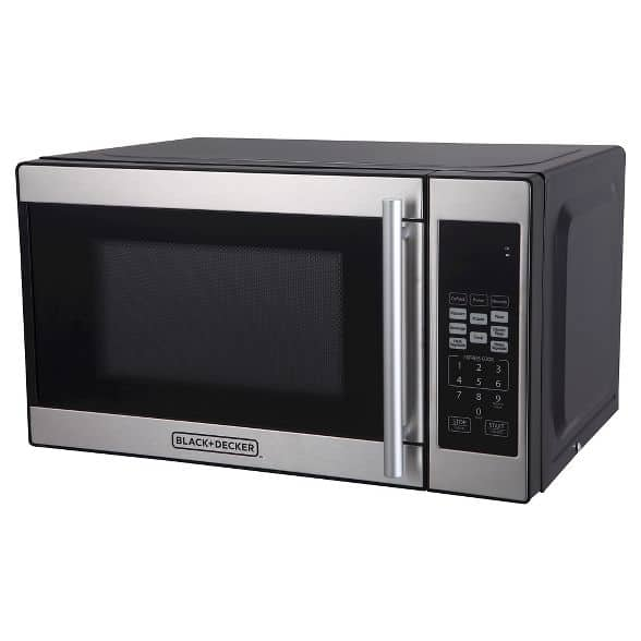 Black and Decker microwave for pantry closet.