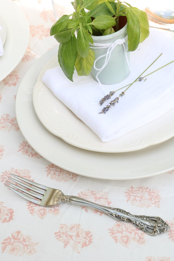 Silverware for a french country table setting