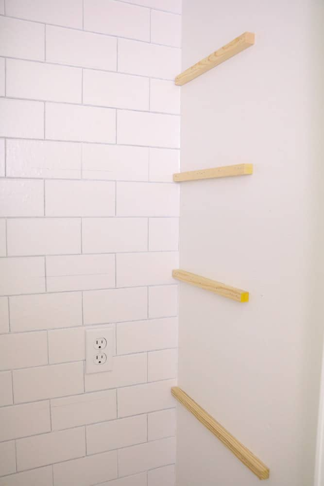 Hang dowels on the side of the microwave pantry