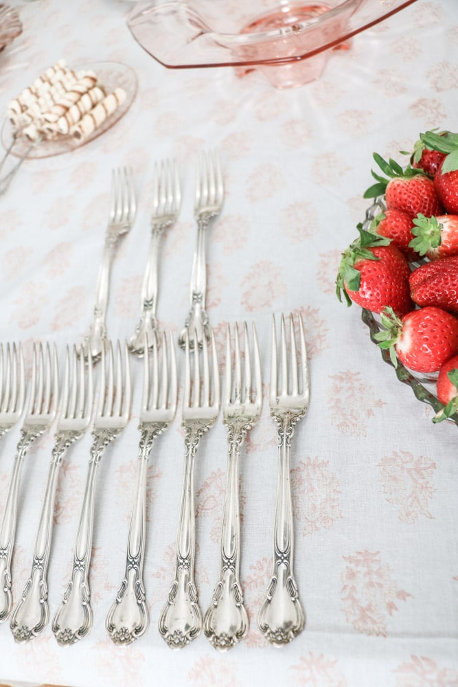 Silverware for a southern bridal shower