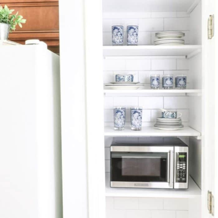 How to hide your microwave in your pantry