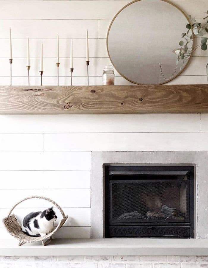 Alabaster White on a fireplace from Everyday With Tinaray