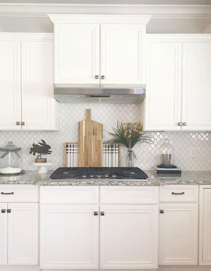 Alabaster White on Kitchen Cabinetry from The Highland Home