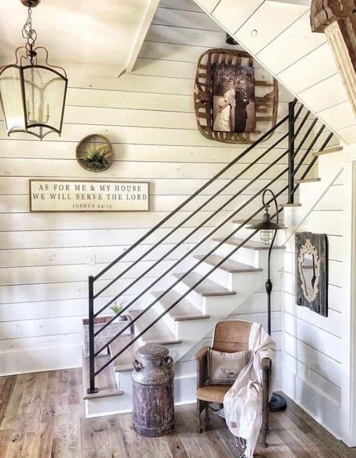 Sherwin Williams Alabaster painted on a shiplap wall by McPeters Farmhouse