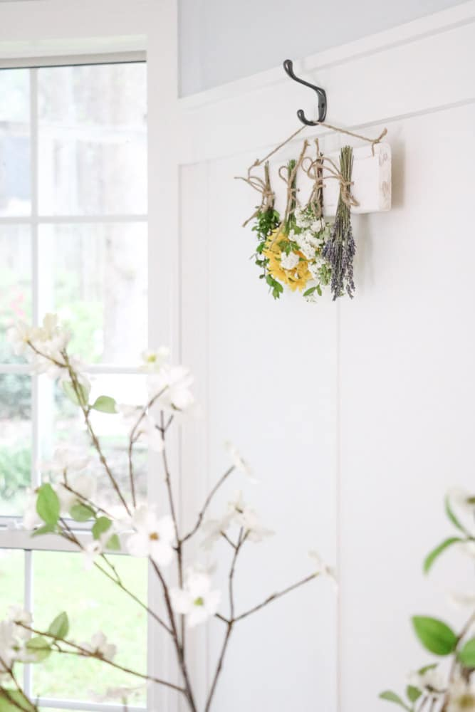 Dried flower wall hanging