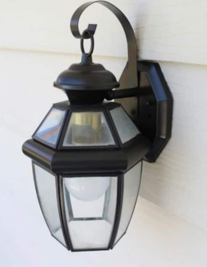 Spray painted exterior light by The Craft Patch
